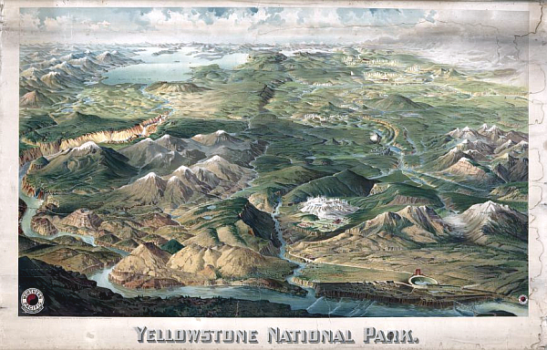 Map of Yellowstone National Park from 1904