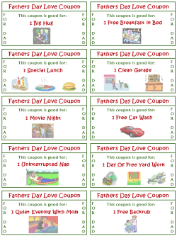 Fathers Day Love Coupons